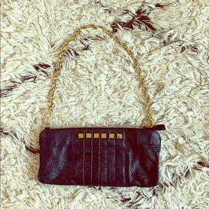 Magnes Sisters Black Studded Leather Shoulder Bag